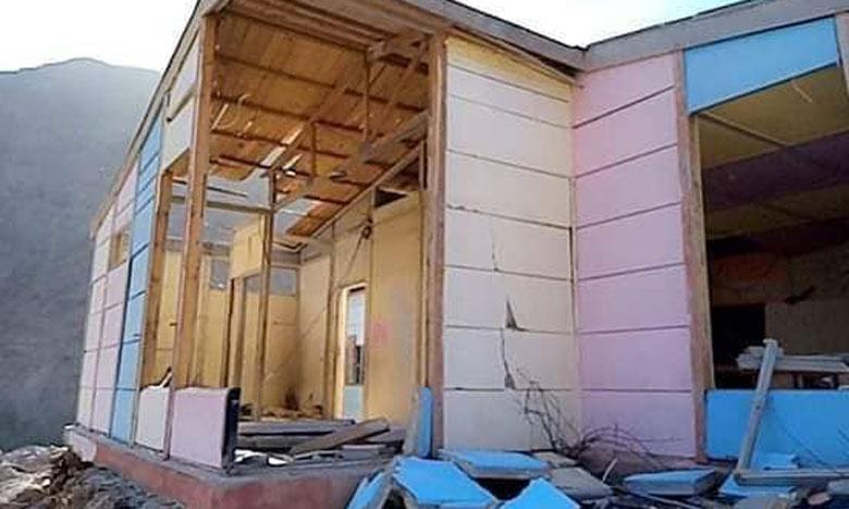 """تارودانت:  انهيار مدرسة من """"البناء المفكك"""" بسبب الاضطرابات الجوية"""
