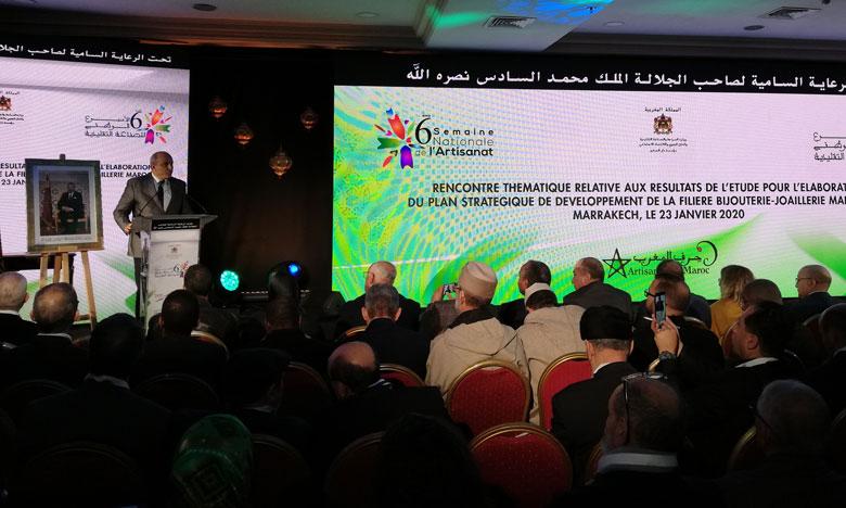 مهنيون وخبراء يتدارسون بمراكش نتائج الدراسة المتعلقة بوضع مخطط استراتيجي لفرع الحلي والمجوهرات المغربية