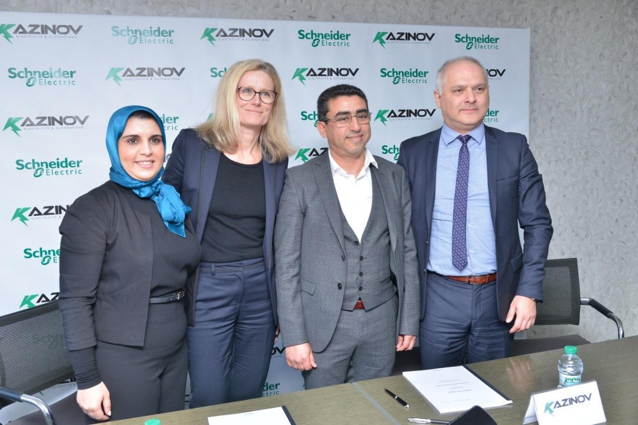 """""""شنايدر إلكتريك"""" توقع شراكة مع الشركة المغربية """"كازينوف"""" لإنشاء وحدة تجميع في المغرب"""