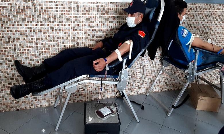 فيروس كورونا: رجل ونساء الأمن بأكادير ينخرطون في حملة للتبرع بالدم
