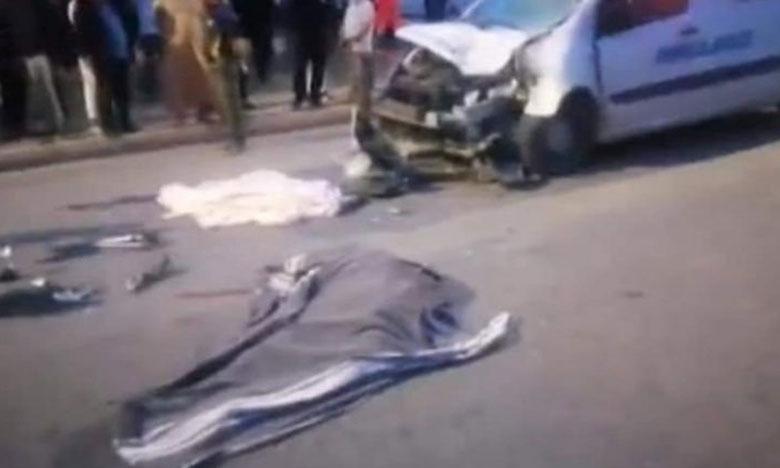 سيارة إسعاف تتسب في مصرع شابين قرب السجن المدني بآسفي