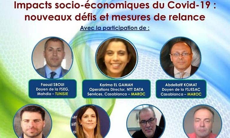خبراء  وأكاديميون ومهنيون دوليون يستعرضون الآثار السوسيو-اقتصادية لكوفيد 19