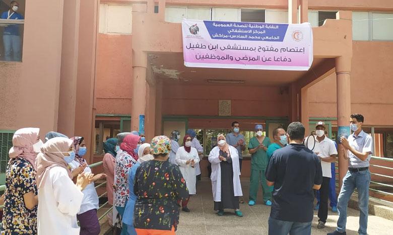 احتجاجات الشغيلة الصحية للأسبوع الرابع تشل المستشفى الجامعي ابن طفيل بمراكش