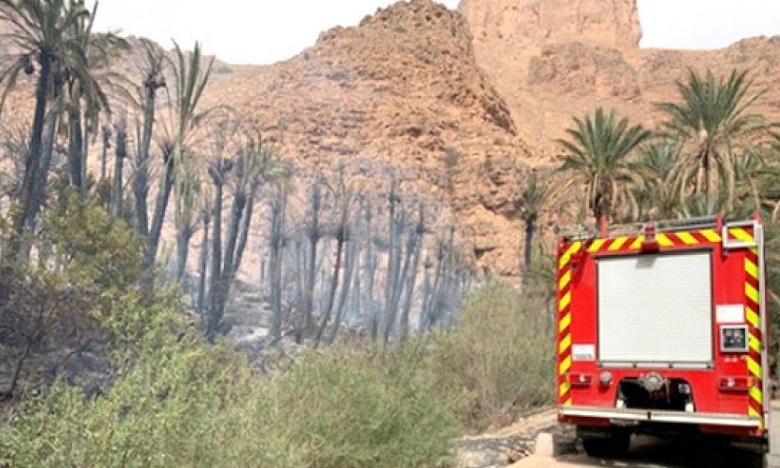 تزنيت: إخماد حريق في واحة آيت منصور قرب مدينة تافراوت