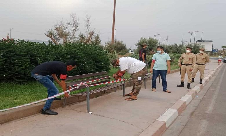 """السلطات تغلق الحدائق العمومية والفضاءات الخضراء في وجه المراكشيين لمحاصرة """"كورونا"""""""