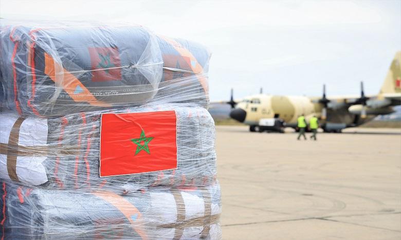 وصول المساعدات الإنسانية والطبية المغربية المستعجلة إلى لبنان