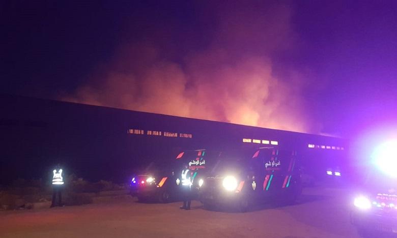 اندلاع حريق كبير بمستودع للتخزين بالدار البيضاء يخلف خسائر مادية