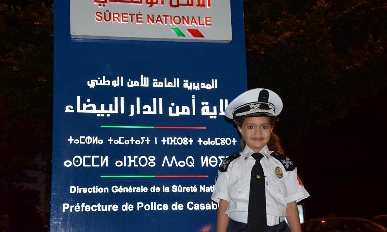 """ولاية أمن الدار البيضاء تحتفي بالطفلة الشرطية """"بسمة"""""""