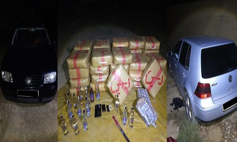 حجز طن واحد من مخدر الشيرا بضيعة فلاحية بمنطقة قروية بالرشيدية