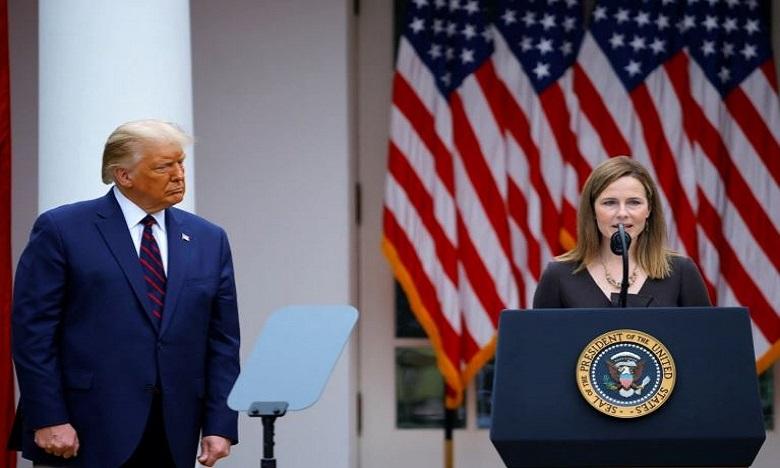 """ترامب: تثبيت القاضية باريت في المحكمة العليا """"يوم تاريخي لأمريكا"""""""