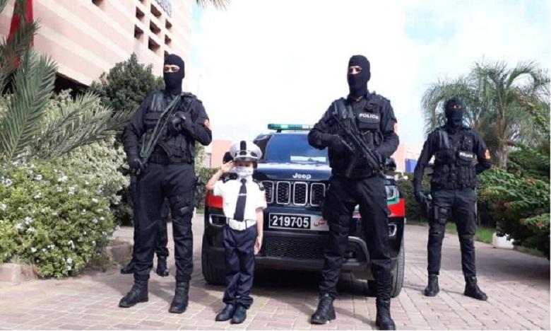 """ولاية أمن مراكش تحتفي بشرطية المستقبل الطفلة """"حفصة"""""""