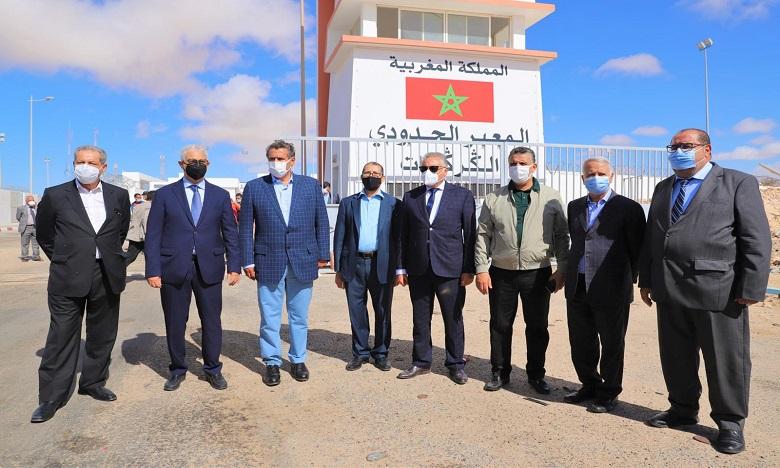 قادة الأحزاب الممثلة بالبرلمان في زيارة لمعبر الكركرات