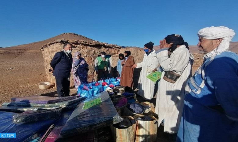 كلميم: استفادة 120 أسرة بالوسط القروي من خدمات قافلة تضامنية لمواجهة آثار موجة البرد