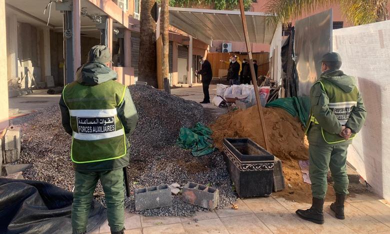 السلطات المحلية توقف بناء محلات تجارية فوق حديقة عمومية بمقاطعة مراكش المدينة