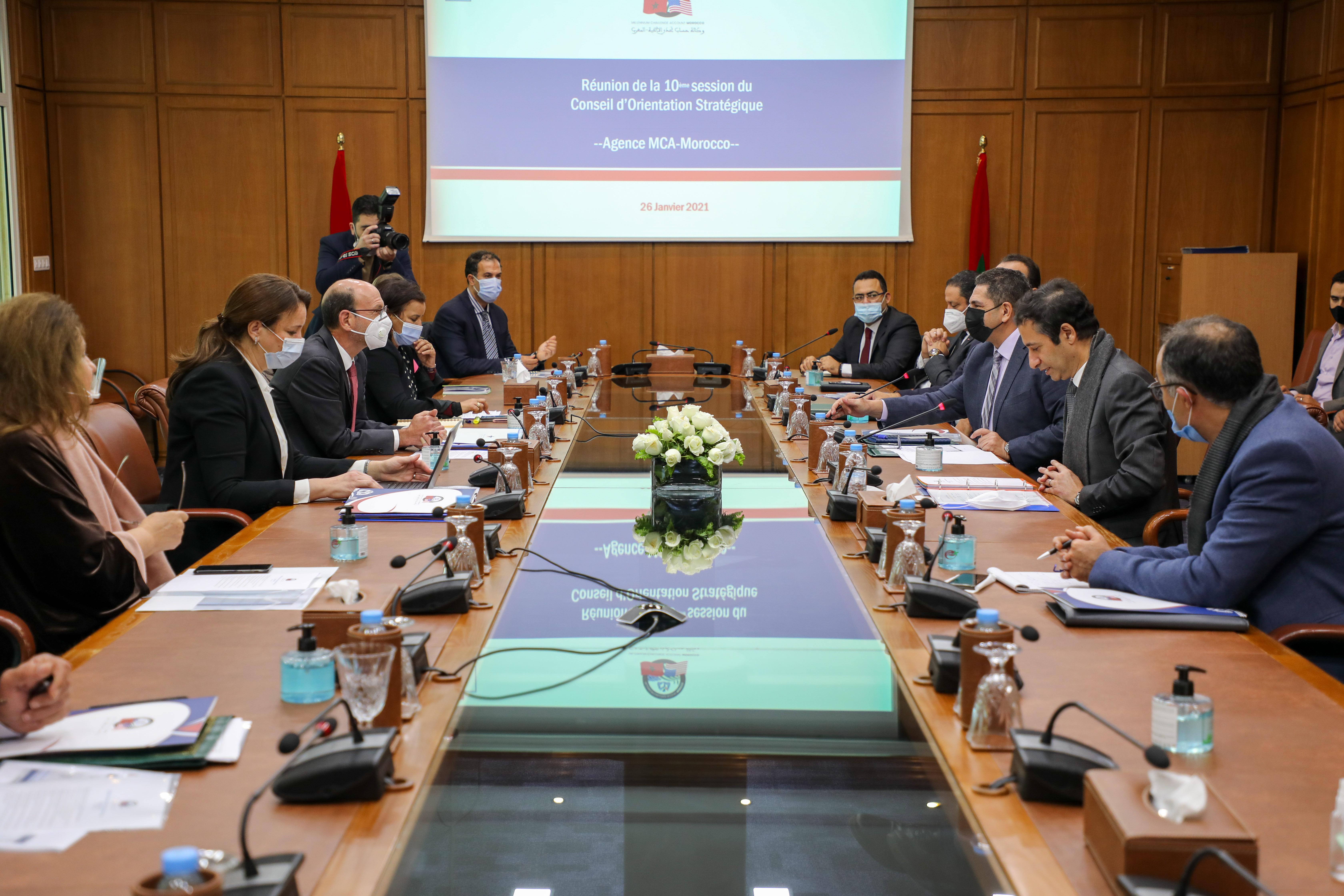 انعقاد الدورة العاشرة لمجلس التوجيه الاستراتيجي لوكالة حساب تحدي الألفية-المغرب