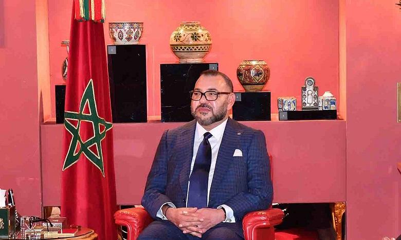 برقية تعزية ومواساة من جلالة الملك الى أفراد أسرة المرحوم عبد الإله بلغازي