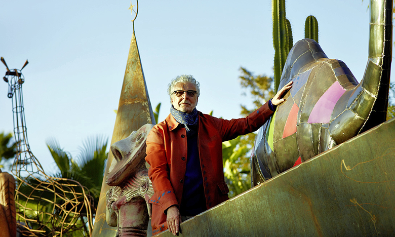 الفنان النمساوي أندريه هيلر يخلد الذكرى السنوية الـ 5 لإحداث حديقة أنيما الساحرة بمراكش