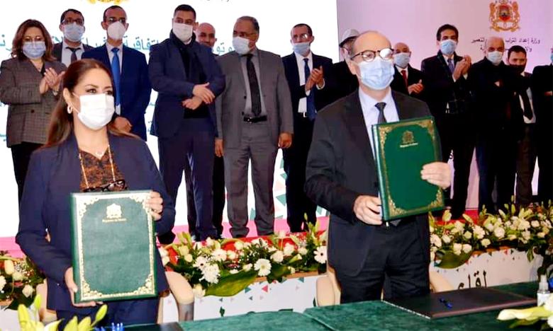 توقيع اتفاقيتين اجتماعيتين لفائدة موظفي وزارة إعداد التراب الوطني والتعمير وسياسية المدينة