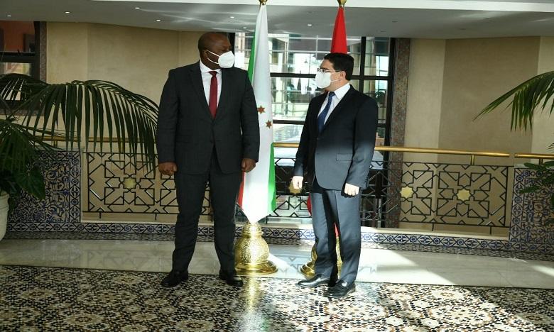 ناصر بوريطة يستقبل نظيره البوروندي حاملا رسالة من رئيس جمهورية بوروندي إلى جلالة الملك