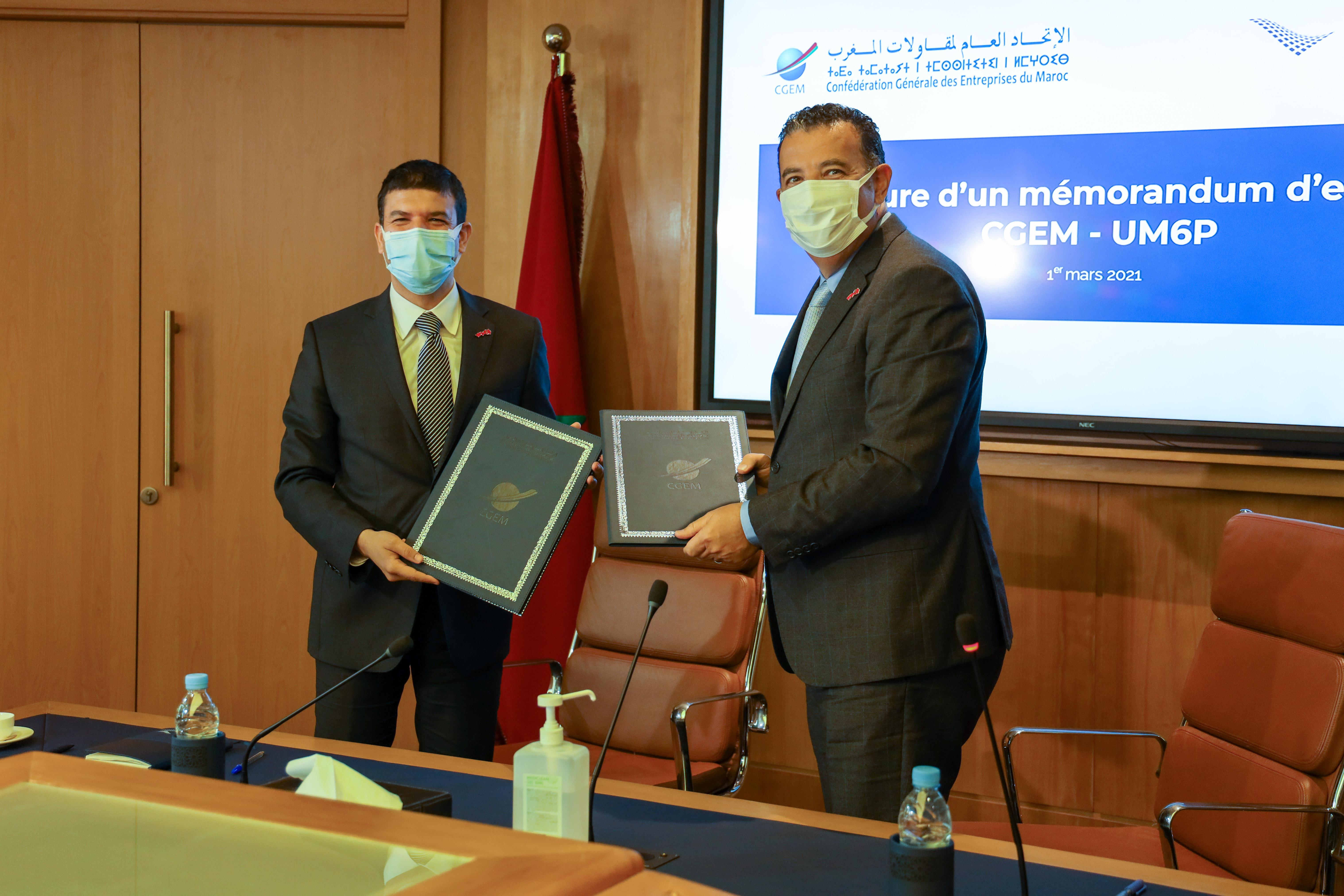 الاتحاد العام لمقاولات المغرب وجامعة محمد السادس متعددة التخصصات يوقعان اتفاقية