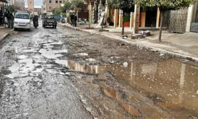 التساقطات المطرية تغرق أحياء بتراب مقاطعة المنارة بمراكش