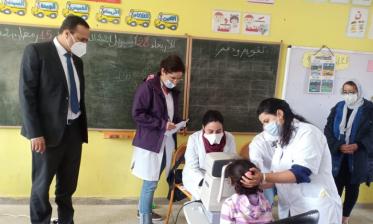 قافلة طبية متخصصة في أمراض العيون وتصحيح ضعف البصر لفائدة تلاميذ المدرسة الابتدائية أحمد بوكماخ  بمديونة
