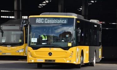 """""""سلامتك أولويتنا"""" حملة توعوية للتحلي بقيم الاحترام والتعاون وسط مستعملي حافلات النقل الحضري بالبيضاء"""