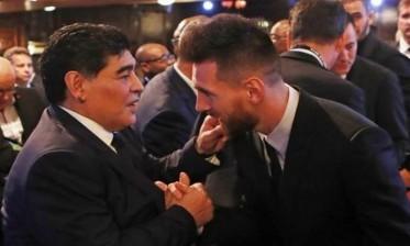 """مارادونا يصف ميسي بـ """"الصديق"""""""