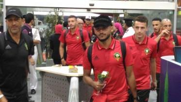 بالفيديو: دعم قوي للأسود بمطار القاهرة الدولي