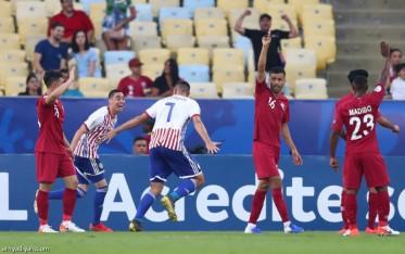 قطر تفاجىء الباراغواي في كوبا أميركا