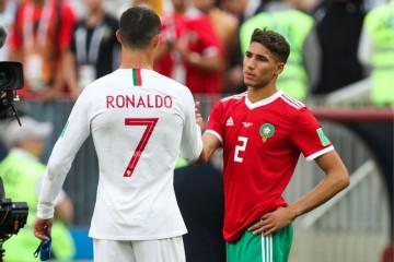 حكيمي ضمن أصغر لاعبي المنتخبات العربية بالكان