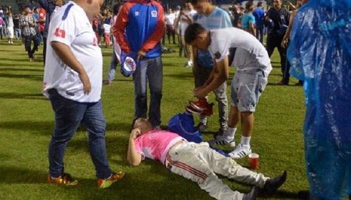 أعمال عنف في ديربي الدوري الهندوراسي