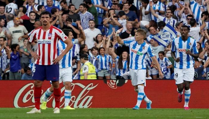 سوسييداد يلحق بأتلتيكو مدريد الهزيمة الأولى بالليغا