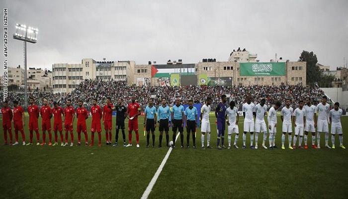 المباراة التاريخية بين فلسطين والسعودية تنتهي بالتعادل