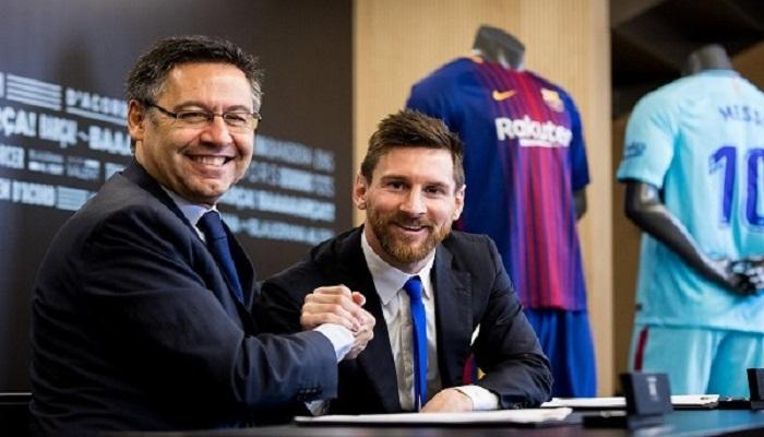بارتوميو يحسم مستقبل ميسي مع برشلونة