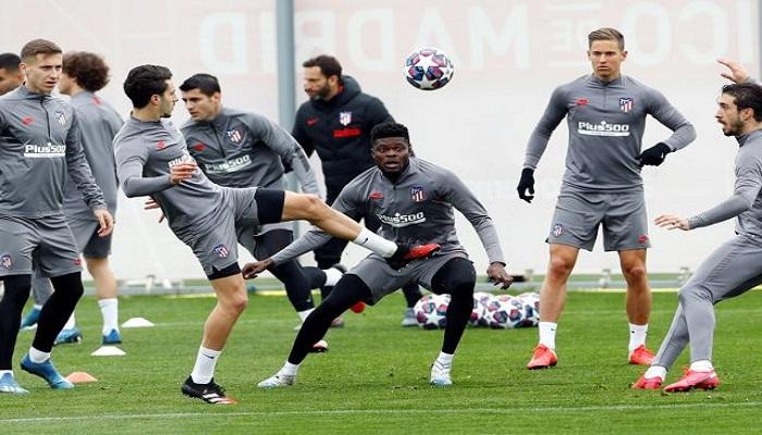 أتلتيكو مدريد يختتم استعدادات مواجهة ليفربول