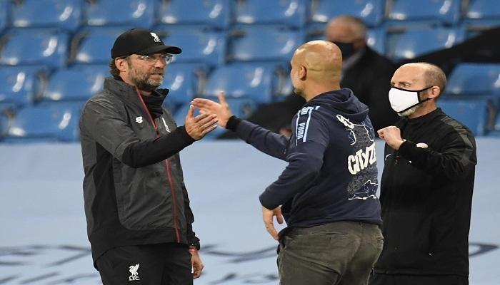 كلوب وغوارديولا يدافعان عن ليفربول بعد الهزيمة الرباعية