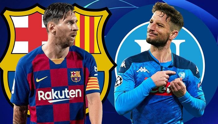 التشكيلة المتوقعة لقمة برشلونة ونابولي في ثمن نهائي دوري الأبطال