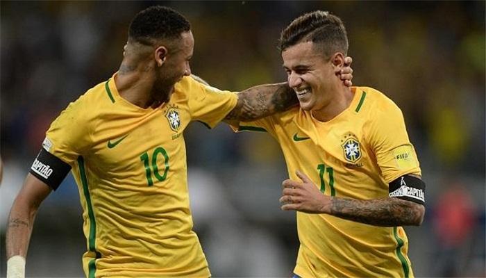 نيمار وكويتينو في قائمة البرازيل لمباراتي  بوليفيا والبيرو