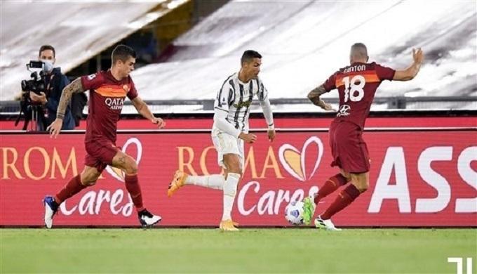ثنائية رونالدو تنقذ جوفنتوس من الهزيمة  أمام  روما