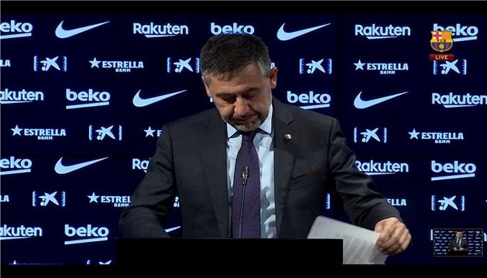 بارتوميو: ميسي لم يجبرني على التفكير في الاستقالة.. ونتمنى اعتزاله في برشلونة