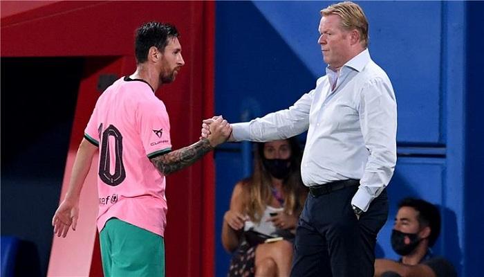 كومان يكشف سبب غياب ميسي عن قائمة برشلونة أمام دينامو كييف