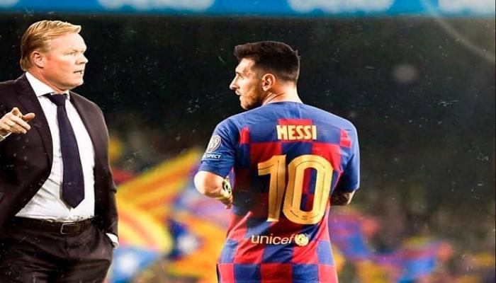 كومان مستاء من تعليقات رئيس برشلونة عن ميسي!
