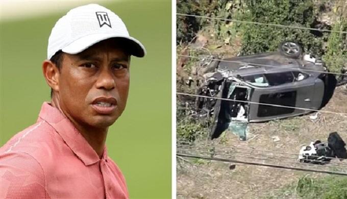 تايغر وودز يتعرض لإصابات خطيرة في حادث سيارة