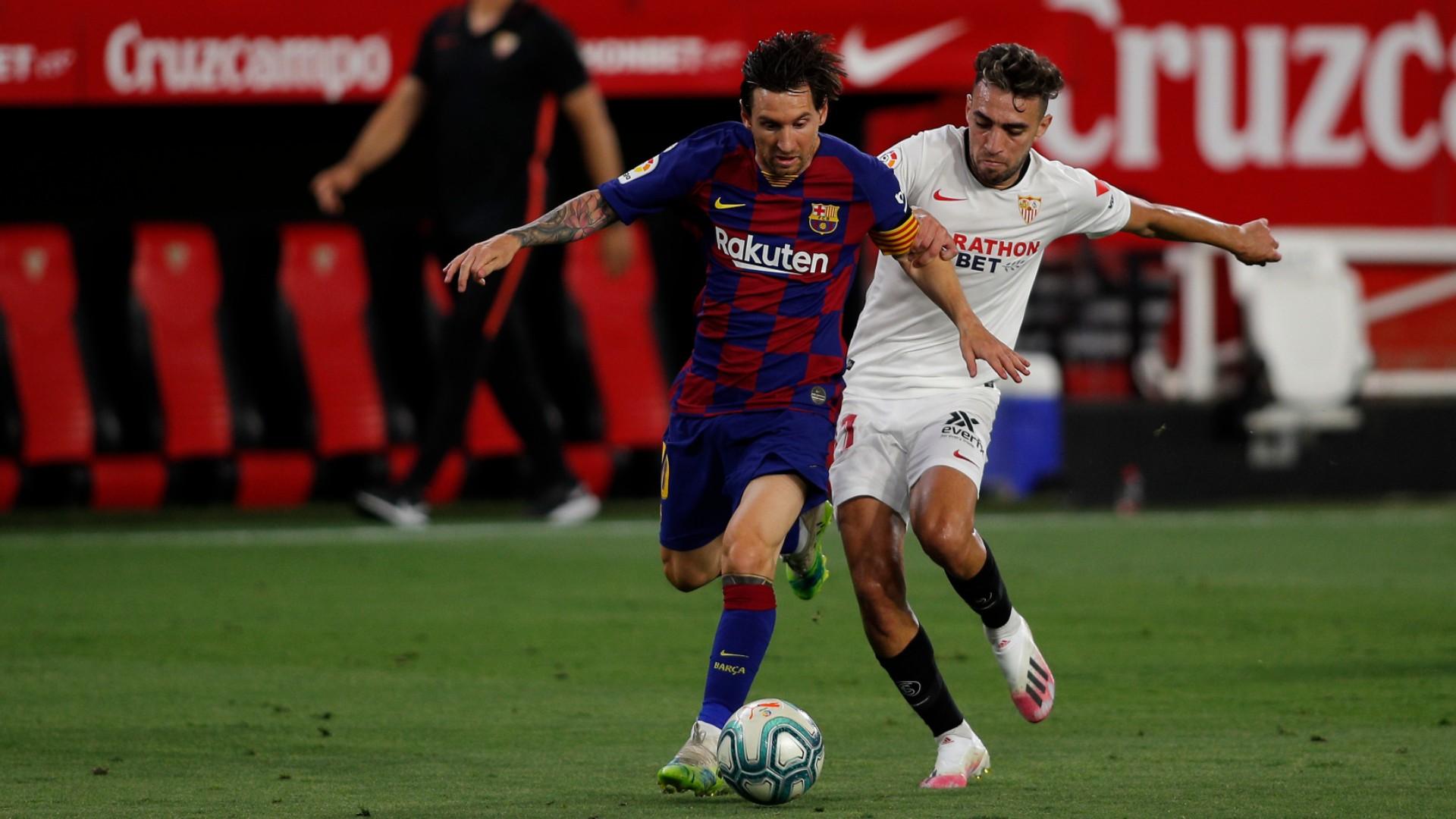 برشلونة  يعود بفوز ثمين من  إشبيلية