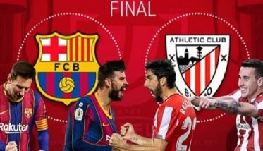 برشلونة يبحث عن اللقب رقم 31 وبلباو عن التتويج الـ24 في كأس الملك