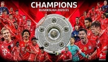 بايرن ميونخ يتوج بطلاً للدوري الألماني بعد خسارة لايبزيغ