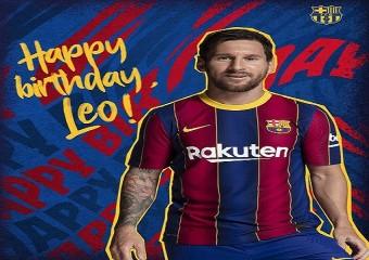 رسالة برشلونة لميسي في عيد ميلاده