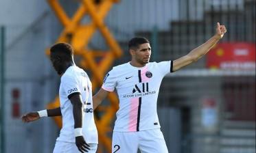 حكيمي يحرز أول هدف مع سان جيرمان