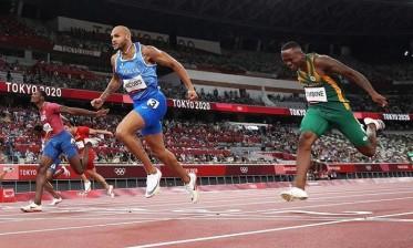 الإيطالي جاكوبس يحصد ذهبية سباق 100 متر